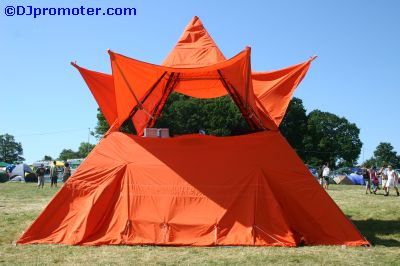 Glade DJ booth tent