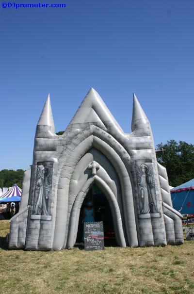 Glade inflatable church