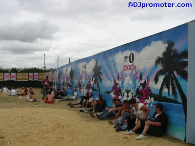 Global Gathering next to main stage