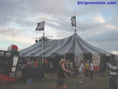Global Gathering After Shock tent