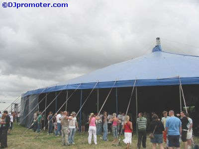 Global Gathering tent