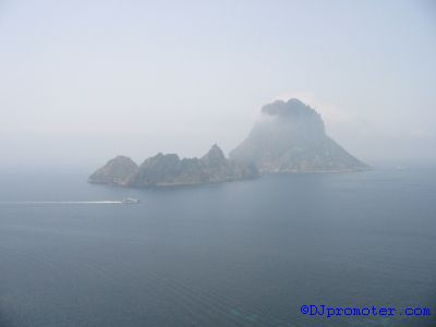 Es Vedra from Ibiza mainland