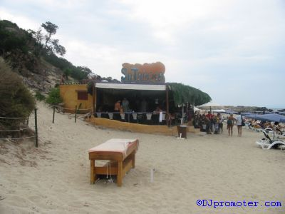 Sa Trinxa beach bar at Salinas Beach