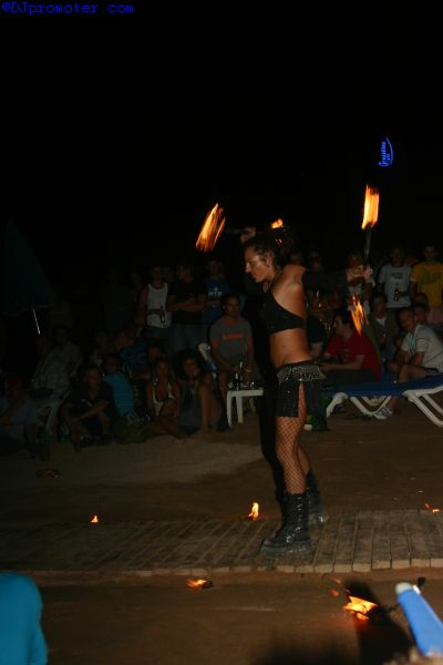 Fire performer girl
