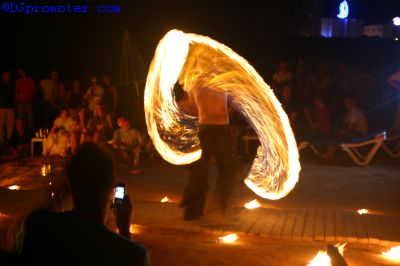 Fire performer male