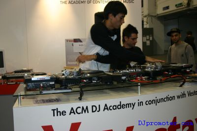 DJ on Vestax decks