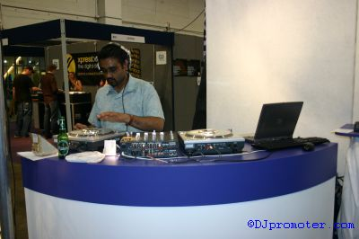 DJ on decks