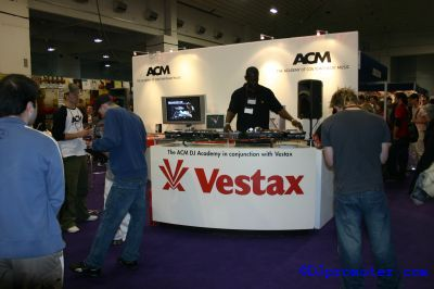 DJ at Vestax stand