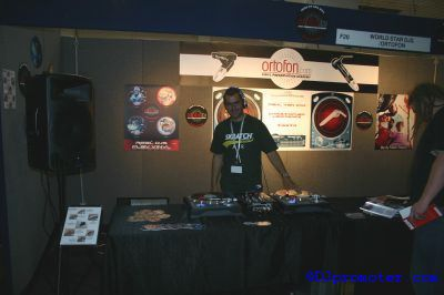 DJ at World Star DJs and Ortofon stand