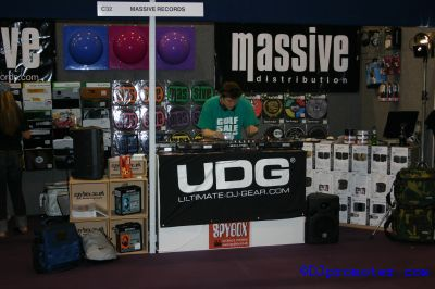 DJ at Massive Records stand