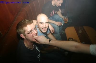 Clubbers fooling around