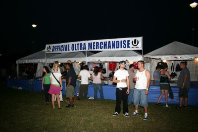 Ultra official merchandise stall