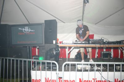 DJ at New Times tent